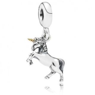 Pandora e 14 ct Dourado Unicorn Charms Pendant