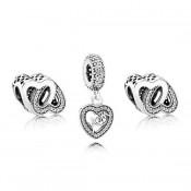 Pandora entrelaçados amor Charms Set