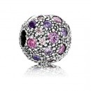 Pandora extravagante Roxo Cosmic Estrelas clip Charms