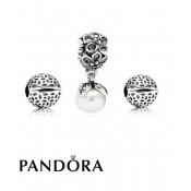 Pandora laço antigo & Pearls Gift Set