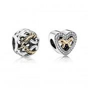Pandora ligados pelo amor Charms Set