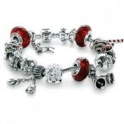 Pandora mágica do Natal Inspirado Vermelho Pulseira