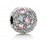 Pandora pálido Rosa Cósmica Estrelas clip Charms