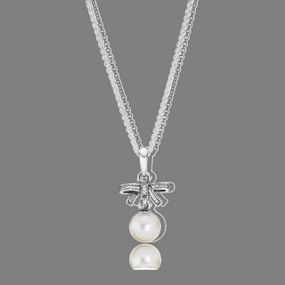 Pandora sentimentos delicados Branco Pérola & Clear CZ Pendant